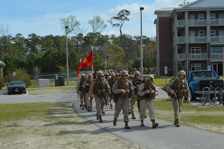 On 10 April 2015 8th Communication Battalion conducted a 9 mile conditioning hike to continue in a series of hikes to better prepare the Marines and Sailors of the BN for upcoming deployments.
