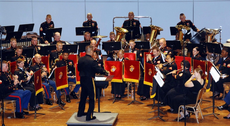 The Albany Marine Band performs at Albany State University, Albany, Ga., and this photo is an example of the variety of musical performances it conducted. Marine Corps Logistics Command officials honored the former Albany Marine Band with a display showcase and small ceremony, April 28, 2015, in Logistics Command's Headquarters Building, aboard Marine Corps Logistics Base Albany.