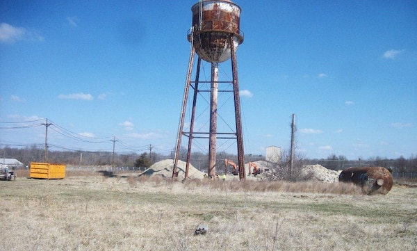 The U.S. Army Corps of Engineers, Huntsville Center's Facilities Reduction Program completed a project to demolish a water tower that was originally part of an old boiler plant at Aberdeen Proving Ground, Md.