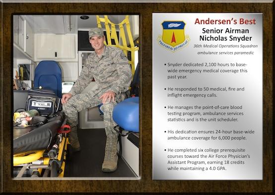 Team Andersen's Best Senior Airman Nicholas Snyder
