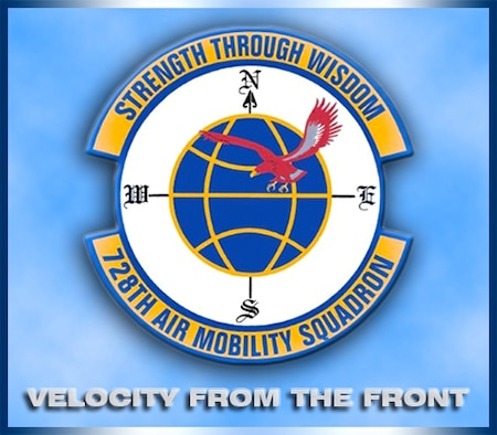 The 728th Air Mobility Squadron provides expertise in three core competencies Aerial Port Operations, Aircraft Maintenance, Command and Control and delivers robust staff support. The unit provides safe and effective en route support for transient Department of Defense and Allied country aircraft. (U.S. Air Force graphic by Danielle Brooks)