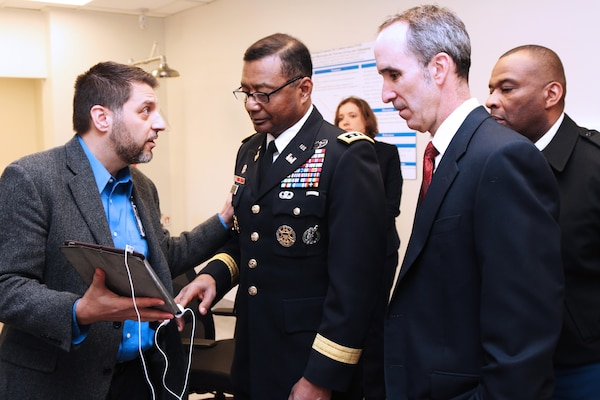 In January, Lt. Gen. Thomas Bostick, USACE Chief of Engineers, visited Charleston to talk with employees, visit the recently completed Mental Health Research Facility at the Veteran's Affairs Hospital, and take a harbor tour of Charleston Harbor.