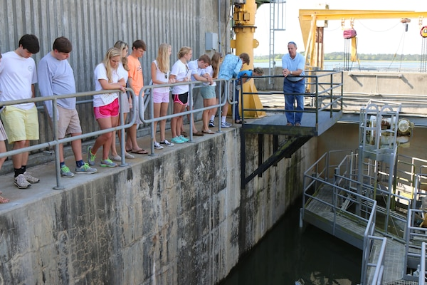 Students visit the St. Stephen Powerhouse and Fish Lift as part of the Charleston District's effort to increase STEM (science, technology, engineering and math) outreach.