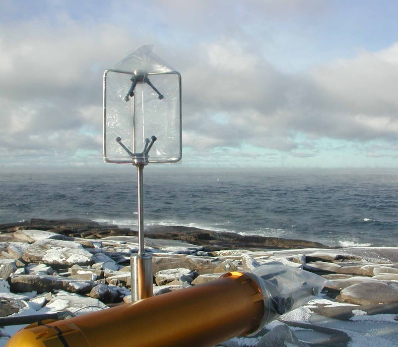 Scientists from ERDC-CRREL and NorthWest Research Associates braved the wind and cold of the Gulf of Maine to collect data for an Office of Naval Research (ONR) project on sea spray.  The project is an effort to better characterize sea spray formation in high winds and cold temperatures.
