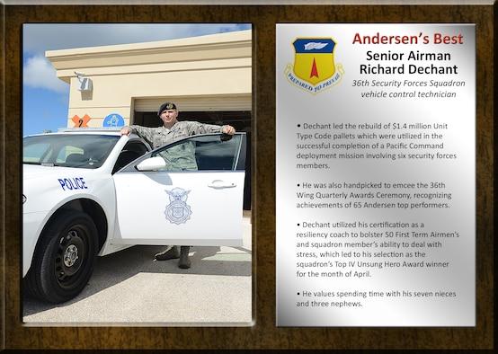 Team Andersen's Best: Senior Airman Richard Dechant