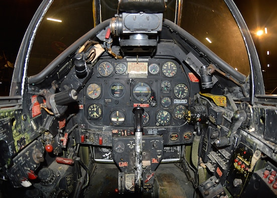 DAYTON, Ohio -- North American P-51D cockpit in the WWII Gallery at the National Museum of the United States Air Force. (U.S. Air Force photo)