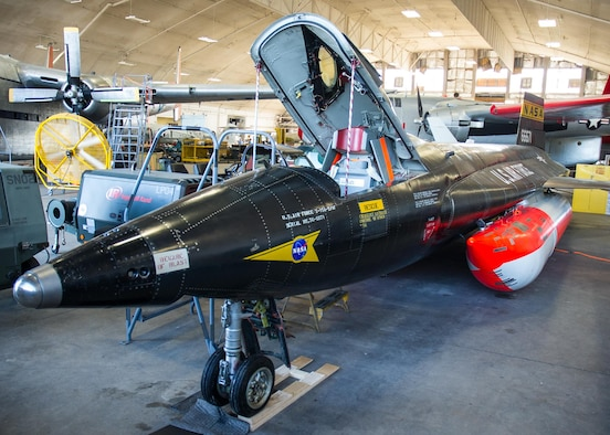 DAYTON, Ohio -- North American X-15A-2 in the restoration hangar at the National Museum of the United States Air Force. (U.S. Air Force photo)
