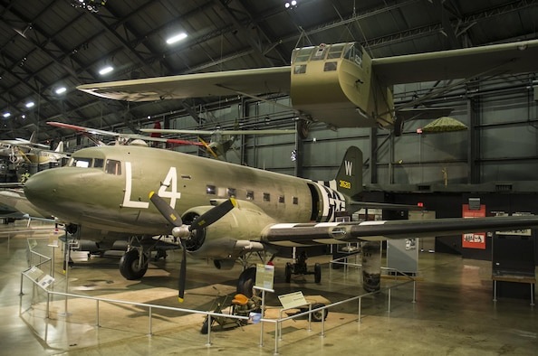 DAYTON, Ohio -- Douglas C-47D and Waco CG-4A in the World War II Gallery of the National Museum of the United States Air Force. (U.S. Air Force photo)