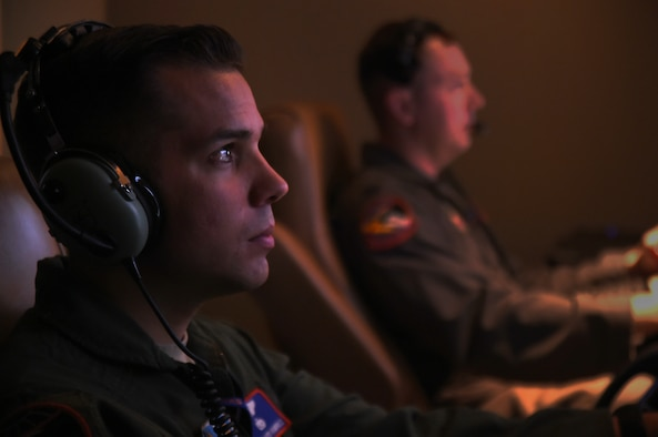 Staff Sgt. Lloyd, an 18th Reconnaissance Squadron MQ-1B Predator sensor operator, flies a remotely piloted aircraft training sortie in support of Red Flag 15-3 at Creech Air Force Base, Nev., July 23, 2015. The goal of participating in Red Flag exercises was to fully integrate RPAs into large force exercises and to educate major weapon systems communities on the RPA capabilities. (U.S. Air Force photo/Tech. Sgt. Nadine Barclay)