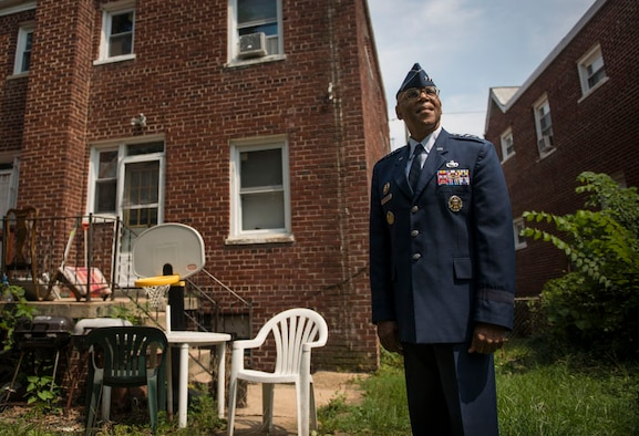 Air Force Vice Chief of Staff Gen. Larry O. Spencer reflects on his 44-year Air Force career at his childhood home in Washington, D.C., July 30, 2015. Spencer, who enlisted in the service in 1971 and commissioned as an officer in 1980, will retire Aug. 7. (U.S. Air Force photo/Staff Sgt. Vernon Young Jr.)
