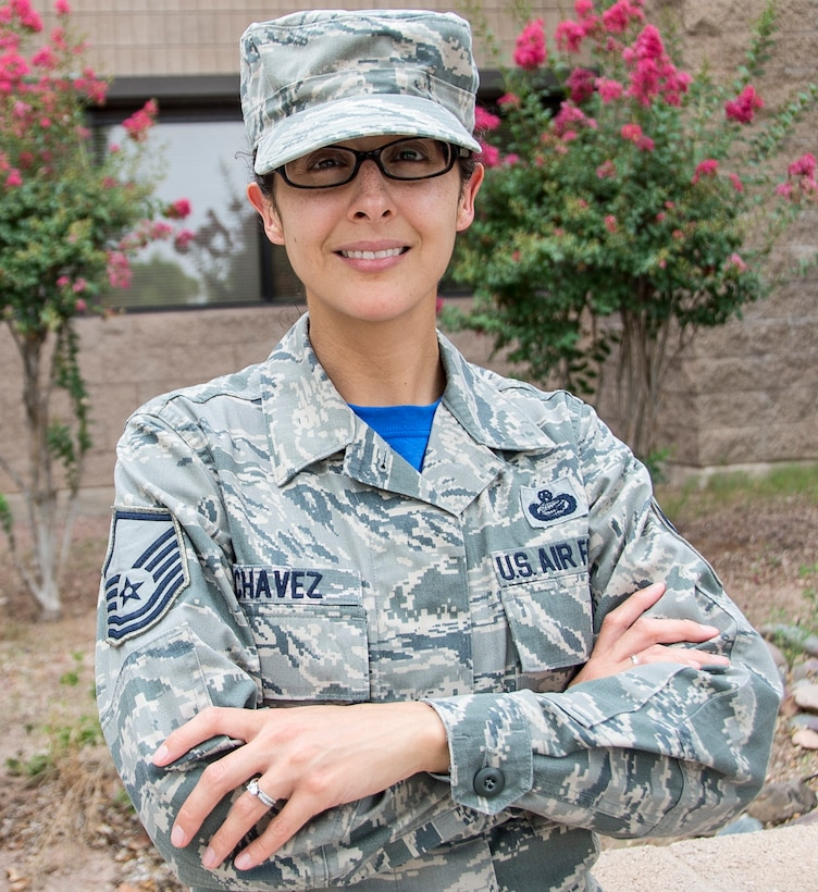 Master Sgt. Leah Chavez, 12th Air Force (Air Forces Southern) A1 contingency operations and planning manager, has been selected as the 12th AF (AFSOUTH) Warfighter of the Week, at Davis-Monthan AFB, Ariz., Aug. 07, 2015. War Fighter of the Week is an opportunity for the Airmen who represent 12th AF (AFSOUTH) to share their own story. The Warfighter of the Week initiative aligns with the 12th AF (AFSOUTH) commander's priority of creating a work environment where someone knows you both professionally and personally. (U.S. Air Force photo by Staff Sgt. Adam Grant/Released)