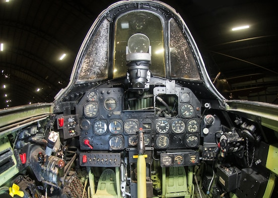 DAYTON, Ohio -- Republic P-47D cockpit at the National Museum of the United States Air Force. (U.S. Air Force photo)