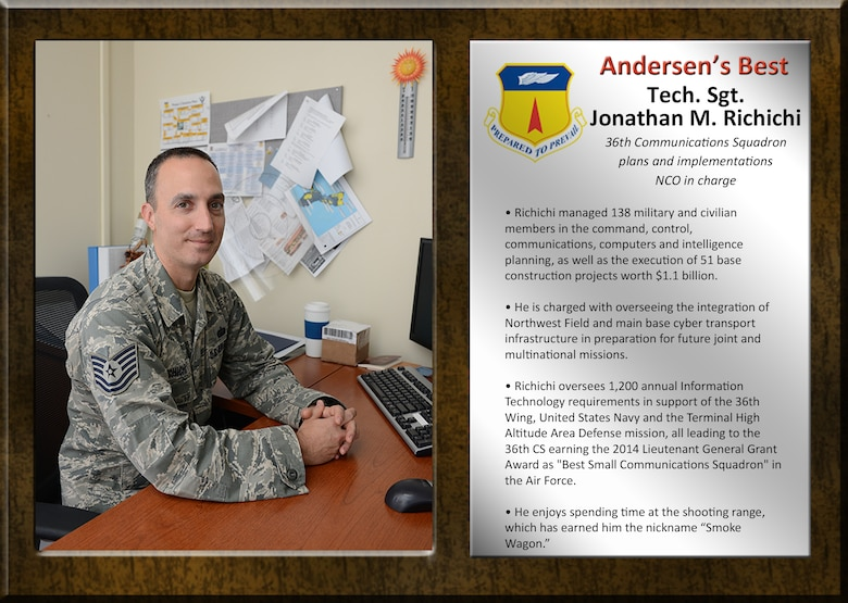 Team Andersen's Best: Tech. Sgt. Jonathan M. Richichi