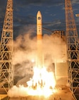 The U.S. Air Force's 45th Space Wing successfully launched a United Launch Alliance-built Delta IV rocket at 8:07 p.m. EDT from Space Launch Complex 37B carrying the seventh Wideband Global Satcom (WGS) satellite, July 23, 2015. (Photo by United Launch Alliance)