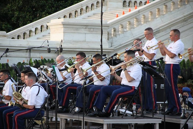 The Marine Big Band performed July 30, 2015 at the U.S. Capitol. (U.S. Marine Corps photo by Staff Sgt. Rachel Ghadiali/released)