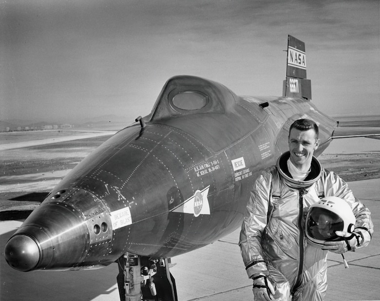 Astronaut Joe H. Engle and the North American X-15A-2.(U.S. Air Force photo)