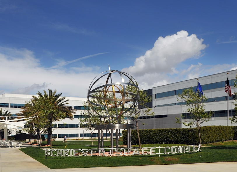 The Armillary Sphere is a focal point for the Schriever Space Complex at the Space and Missile Systems Center, Los Angeles Air Force Base in El Segundo, Calif. (Courtesy photo)