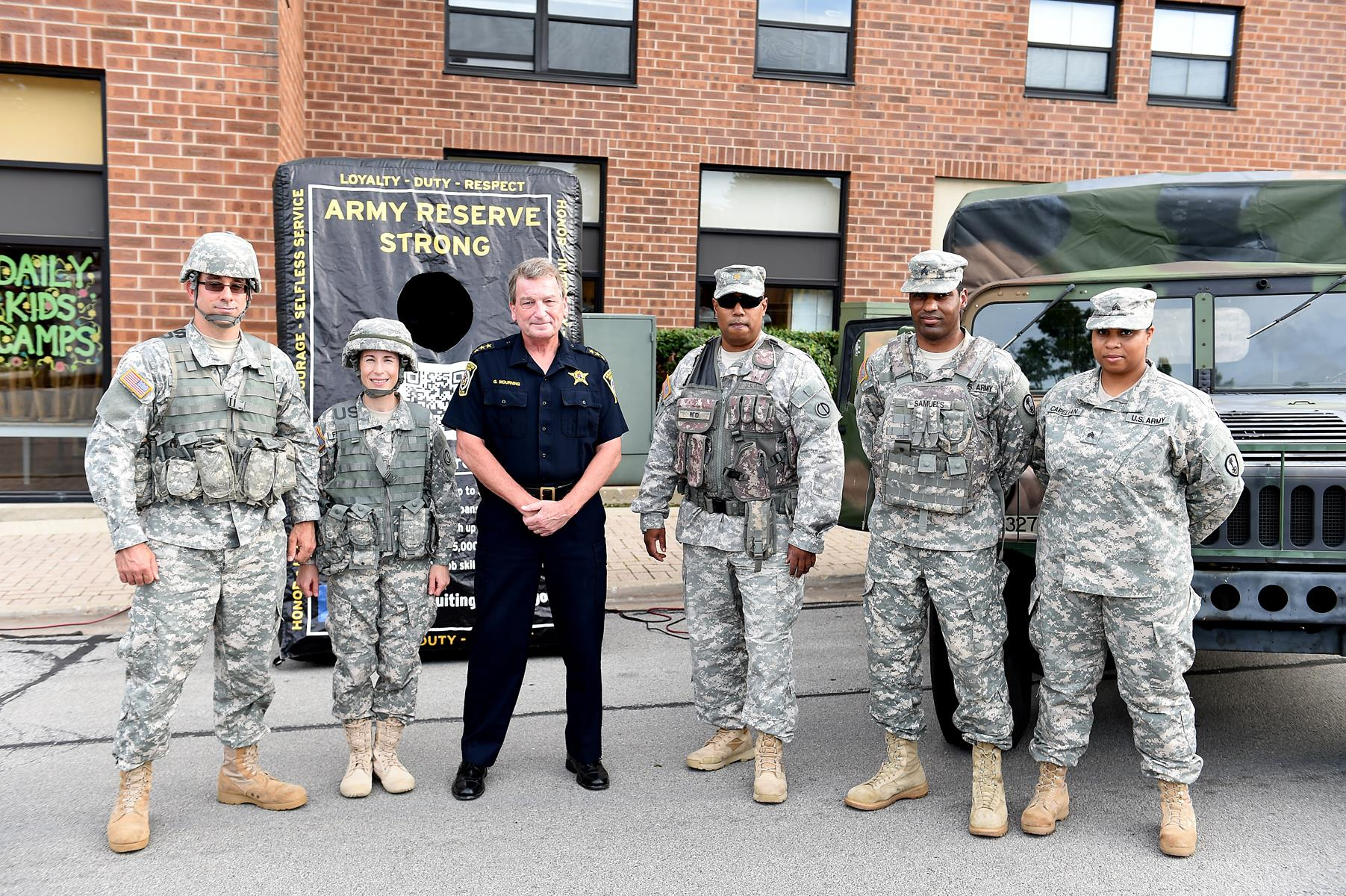 Army Reserve soldiers partner with local police for National