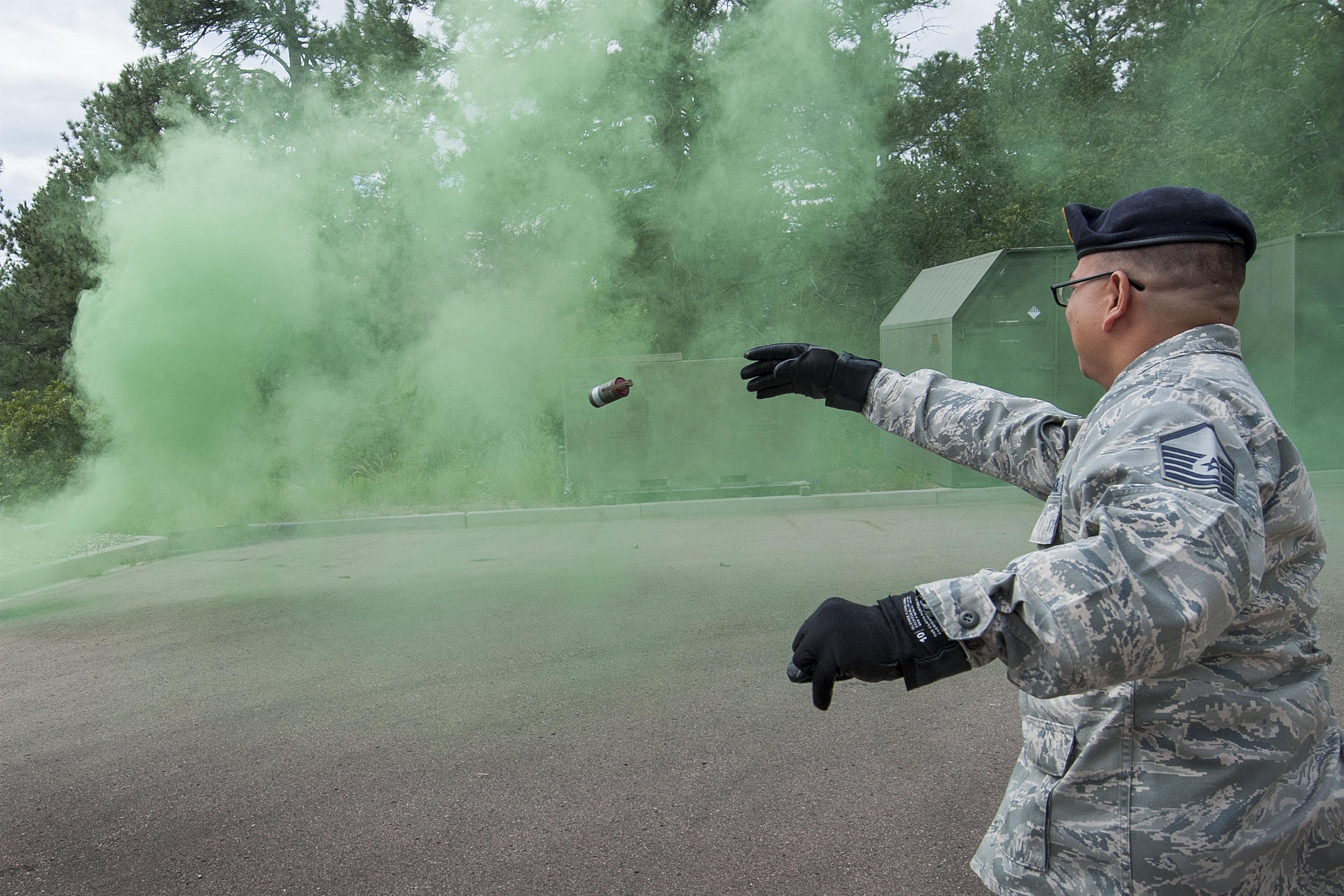 721st SFS conducts Smoke Grenade training at CMAFS