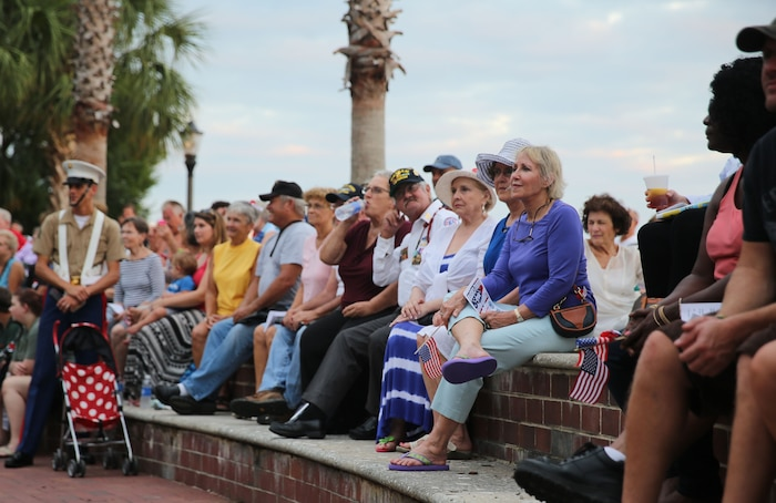 Marines, veterans and civilians gathered at Waterfront Park in downtown Beaufort for a Vietnam Veterans Tribute, Aug 8. The event was organized by veteran services to give Vietnam War veterans the welcome that many of them never received.