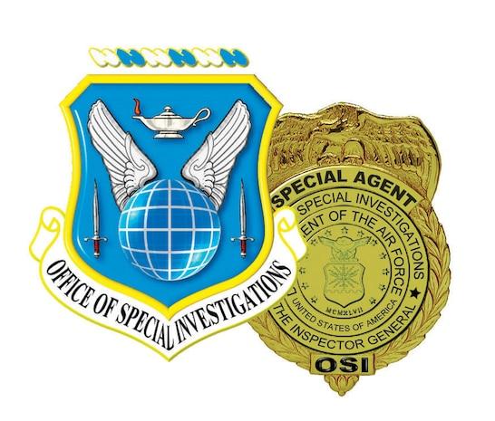 AFOSI organizational shield and badge