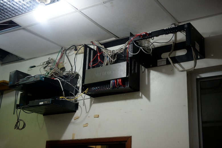 The reconfigured router for the Dr. Salvador Paredes Hospital in Trujillo, Honduras, July 9, 2015, after being fixed by U.S. Air Force Tech Sgt. Jasmine Matus, 35th Combat Communications Squadron radio frequency transmissions craftsman, Matus was in the hospital to repair its ailing network infrastructure as part of the New Horizons Honduras 2015 training exercise.   New Horizons was launched in the 1980s and is an annual joint humanitarian assistance exercise that U.S. Southern Command conducts with a partner nation in Central America, South America or the Caribbean. The exercise improves joint training readiness of U.S. and partner nation civil engineers, medical professionals and support personnel through humanitarian assistance activities.  (U.S. Air Force photo by Capt. David J. Murphy/Released)