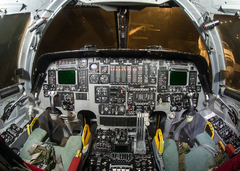DAYTON, Ohio -- Boeing B-1B Lancer cockpit in the Cold War Gallery at the National Museum of the United States Air Force. (U.S. Air Force photo by Ken LaRock)