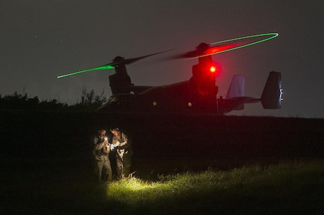 U.S. Marines with Combat Logistics Battalion 4, 3rd Marine Logistics Group and Marine Medium Tiltrotor Squadron 262, 1st Marine Aircraft Wing conduct external lifts during helicopter support team training at landing zone Swan on Aug. 12. The training was conducted to increase proficiency in logistics tasks and enhance the ability to execute potential contingency missions.