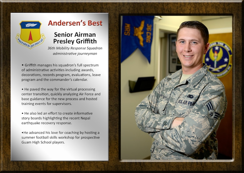 Team Andersen's Best: Senior Airman Presley Griffith
