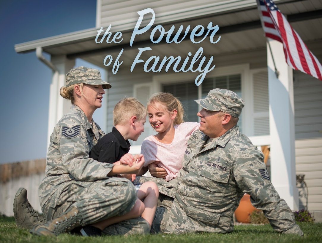 Tech. Sgt. Matthew Turner (right), NCO in charge of the 391st Fighter Squadron medical element, poses for a photo with his wife, Tech. Sgt. Ann Turner, and children, Jaxon and Melanie, Aug. 18, 2015, in Mountain Home, Idaho. Throughout Matthew's career, he has looked to his family for support helping him overcome struggles presented to him. (U.S. Air Force photo by Airman 1st Class Jeremy L. Mosier/Released)