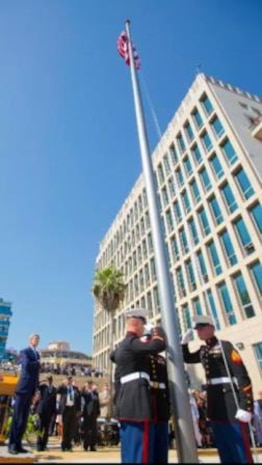 Flag Raising at Havana Embassy