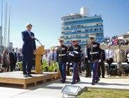 Detachment Havana MSG ceremony for the flag Raising in Havana Cuba