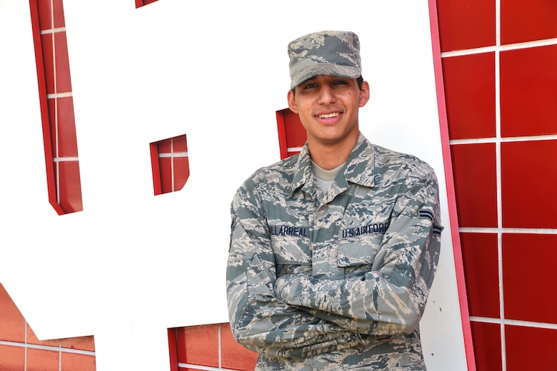 Airman First Class Alejandro Villarreal, 433rd Logistics Readiness Squadron, climbed into an overturned vehicle, and pulled an injured nine-year-old boy from the back seat on Aug. 16, 2015. Villareal is a student and attends the University of Houston He was one of four Air Force Reservists from Joint Base San Antonio-Lackland, Texas, who rendered care to the injured passengers. (U.S. Air Force Photo/Minnie Jones)
