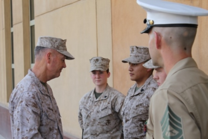CMC Visits Detachment in Kuwait