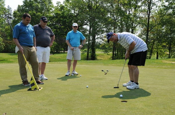FORT BELVOIR, Va. (May 5, 2015) McNamara Headquarters Complex employees from different agencies and their guests participate in a golf tournament hosted by the Defense Logistics Agency's Installation Support Morale, Welfare, and Recreation Program on Fort Belvoir Virginia's Woodlawn Golf Course.