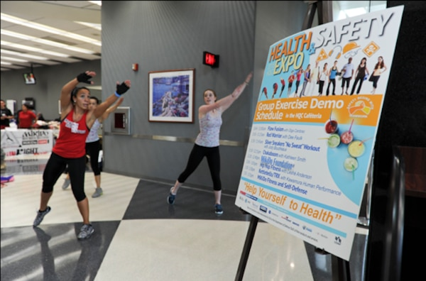 FORT BELVOIR, Va. (May 13, 2015) McNamara Headquarters Complex employees learn about taking charge of their personal fitness and well-being from a variety of health and fitness experts during the 10th annual Health and Safety Exposition, hosted by the Defense Logistics Agency's Installation Support Morale, Welfare Recreation Program.