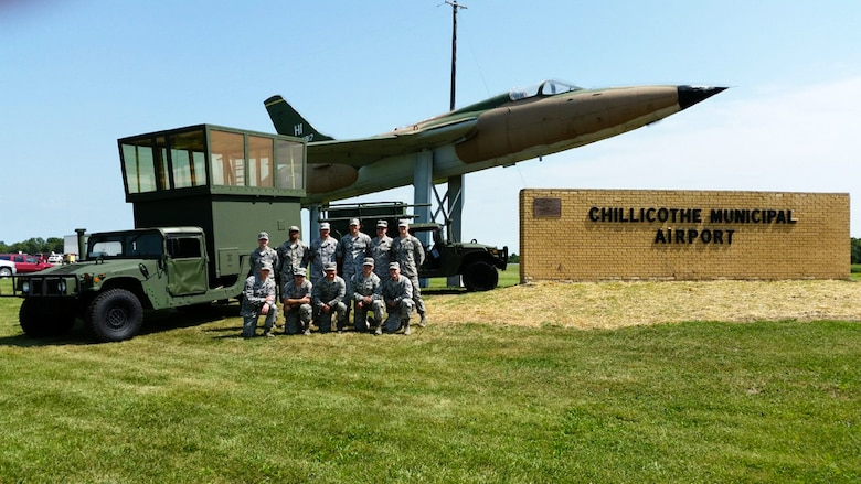 U.S. Airmen from the 241st Air Traffic Control Squadron, Missouri Air National Guard, attended an air show in Chillicothe, Mo., on Aug. 22, 2015. (U.S. Air National Guard photo by Capt. Ben Hedley).