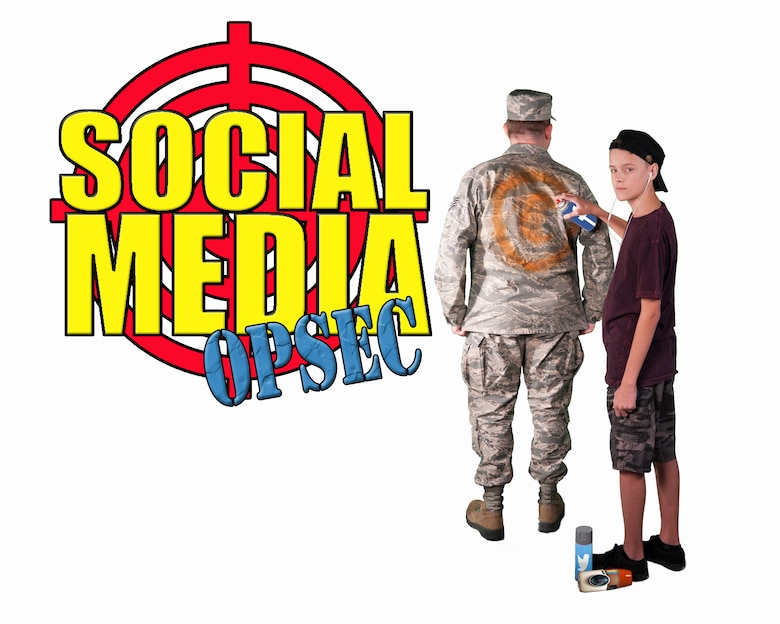 Poor social media OPSEC practices can paint a target on your military loved one's back. Using a strong password and privacy settings on your personal social media accounts can go a long way in protecting yourself and your family. (U.S. Air Force photo illustration by Airman 1st Class Corey Pettis, Tech. Sgt. Alexy Saltekoff and Master Sgt. Jason W. Edwards/released)