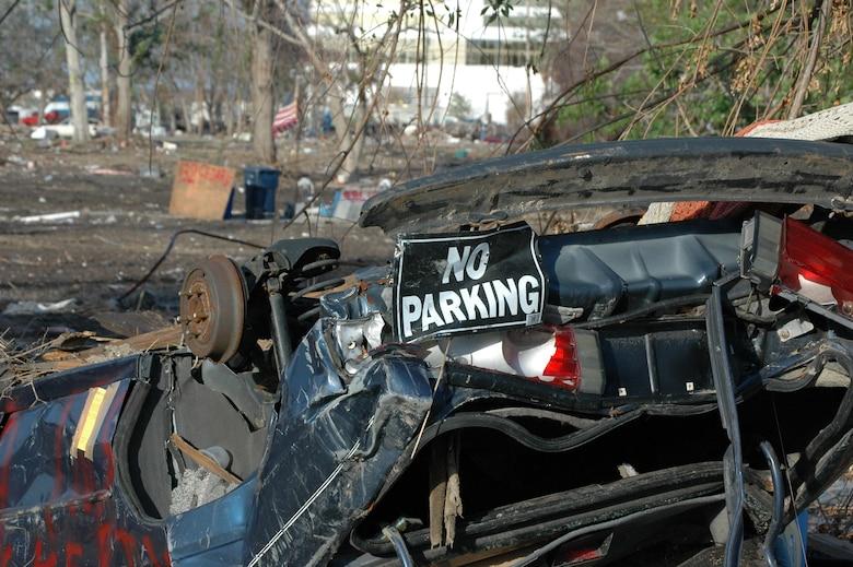 Intense damage from Hurricane Katrina