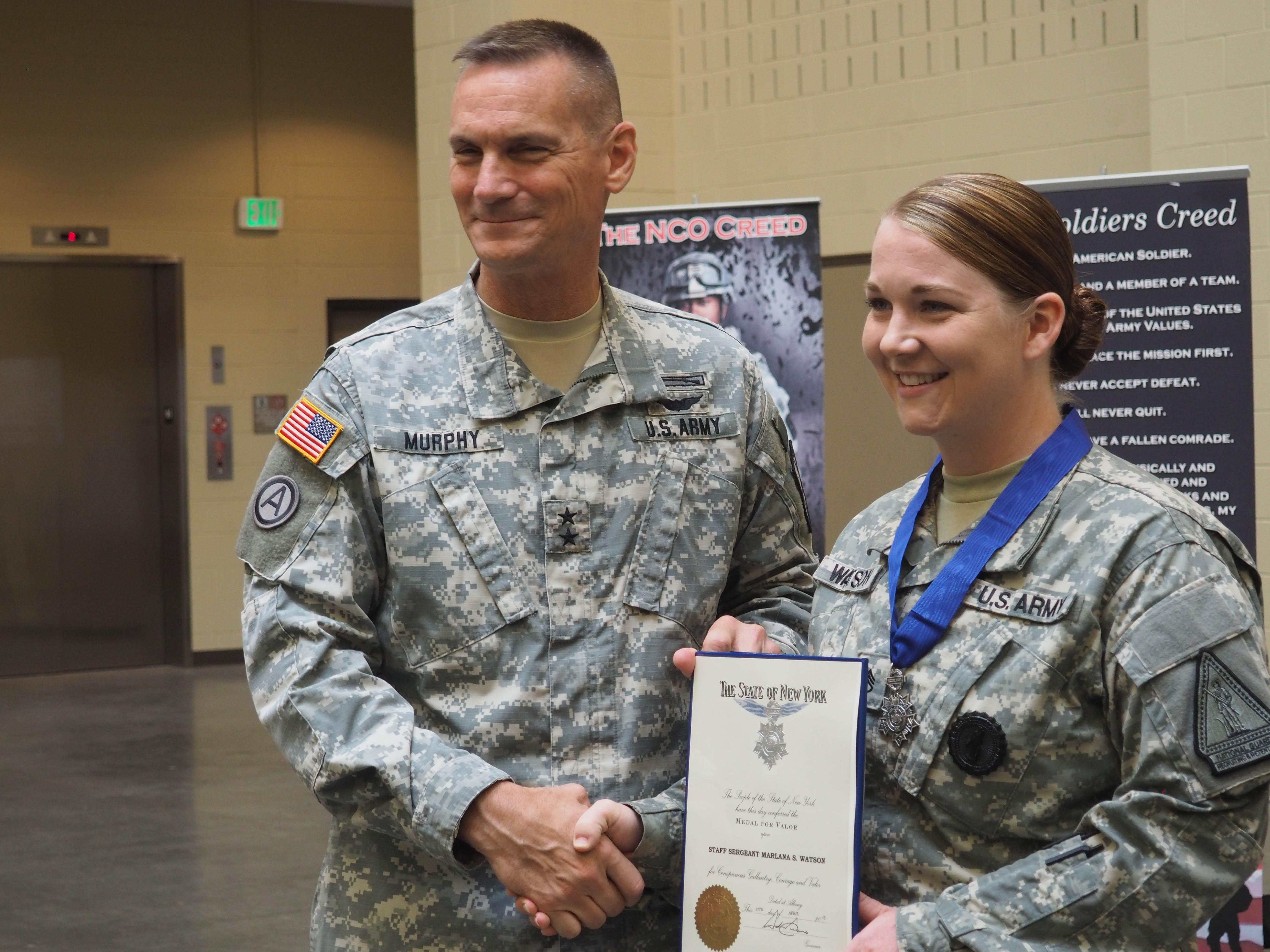 New York National Guard member honored for heroism in her own neighborhood