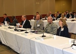 Attendees of the 21st annual Senior Executive Partnership Roundtable listen to a presentation May 6 in Richmond, Virginia. The event brought DLA Aviation leaders together with industry partners to discuss the way ahead for Better Buying Power and commercial pricing initiatives.
