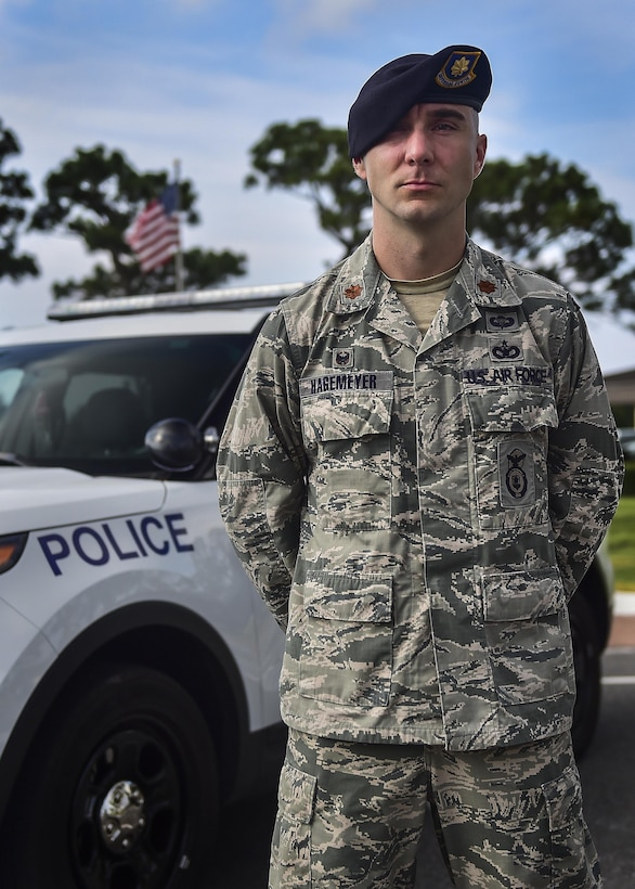 Maj. Chris Hagemeyer is the 1st Special Operations Security Forces Squadron commander. Hagemeyer is in charge of approximately 270 security forces members who provide force protection for special operations through physical security, entry control, armed response and police services to Hurlburt Field. (U.S. Air Force photo by Senior Airman Jeff Parkinson/Released)