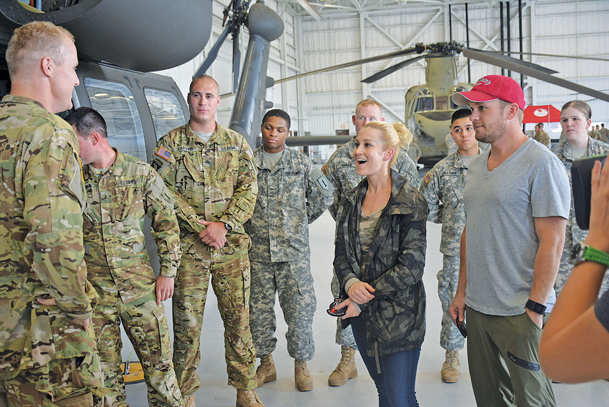 Fort riley photo gallery kellie pickler country music artist and tv personality joined her husband kyle jacobs m4hsunfo