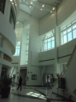 The hospital is a testament to ingenuity by incorporating energy efficiency, and seismic and thermal requirements in a state-of-the-art medical facility. The building envelope was designed to control temperature migration to the building interior with outdoor temperatures ranging from 90 degrees to minus 60 degrees. The building fenestrations were designed with an airtight seal utilizing 4-inch deep insulated glazing units with thermal breaks to bring natural light into the building. Use of natural light in a healthcare facility has tremendous benefits, such as improved patient recovery times and improvements to general health and circadian rhythm.