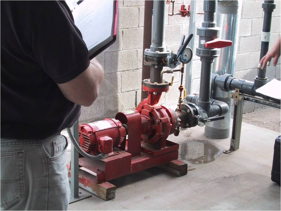 Pump pressure gauges are read and then the corresponding flow is determined from the pump manufacturers curve. This typically occurs during the acceptance phase of the commissioning process.