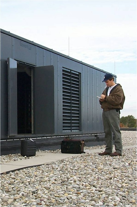 Pre-functional check-out of rooftop air handler. This typically occurs during the construction phase of the commissioning process.