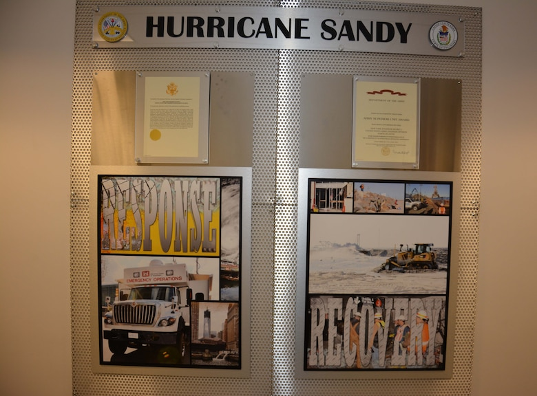 The U.S. Army Corps of Engineers was recently awarded the Army Superior Unit Award for excellence in recovery and restoration efforts after Hurricane Sandy in fall 2012.