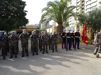 Wreath Laying Ceremony held at the Beirut Embassy in remembrance of the barracks bombings that took place on October 23, 1983.