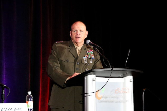 "Gen. Robert Neller, commandant of the Marine Corps, gives the keynote address Dec. 2 at the Interservice/Industry Training, Simulation and Education Conference in Orlando, Florida. Neller, along with other Marine Corps leaders, participated on a panel entitled, ""Forging the Future of Marine Corps Training."""