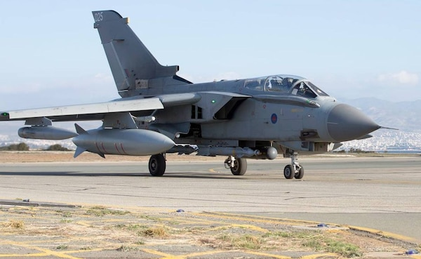 Royal Air Force Tornado GR4s return to RAF Akrotiri after their first mission, since the parliamentary vote to undertake air strikes in Syria. (RAF Photo)